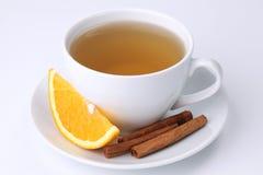 Orange tea with cinnamon Stock Photography