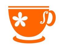 Orange tea cup Stock Image