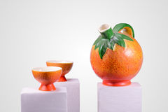 Orange Tea Set Royalty Free Stock Images