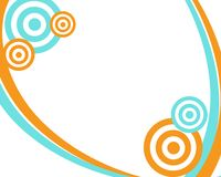 Orange and Teal Circle Frame Royalty Free Stock Photography