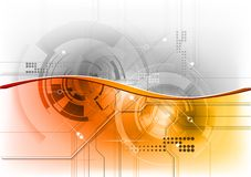 Orange tech wave Stock Images