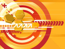 Orange techno background. With various elements Royalty Free Stock Images