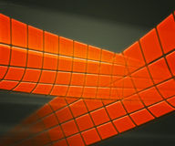 Orange Technology Background Squares Royalty Free Stock Photography