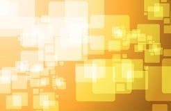 Orange technology cubes modern illustration Stock Image