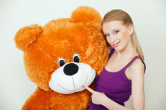 Orange teddy bear Stock Image