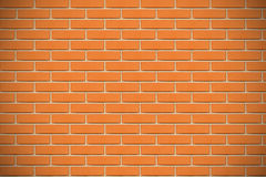 Orange tegelstenvägg Royaltyfri Foto