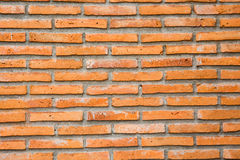 Orange tegelstenvägg Royaltyfria Bilder