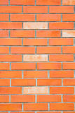 Orange tegelstenvägg Royaltyfri Bild