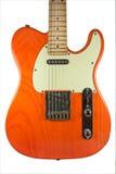 Orange Telecaster guitar Stock Photos