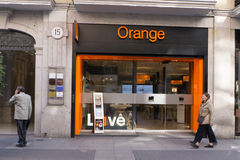 Orange Telecommunications Store Royalty Free Stock Photos