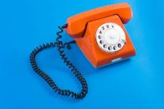 Orange Telefon Lizenzfreie Stockfotografie
