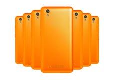 Orange Telefone lizenzfreie stockfotografie