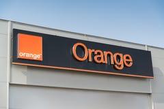 Orange Telekommunikation lizenzfreies stockbild