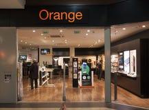 Orange telekommunikationlager Royaltyfria Foton