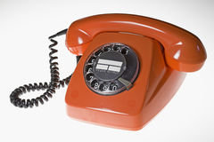 Orange telephone Royalty Free Stock Photos