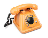 Orange telephone Stock Photo