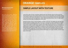 Orange template Stock Images