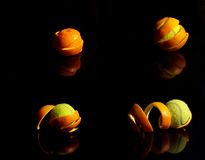Orange tennis Stock Photography