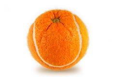 Orange-Tennis Kugel Stockfotos