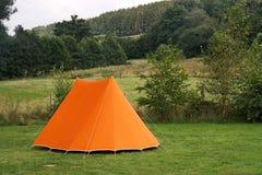 orange tent Royaltyfri Foto