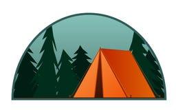 orange tent Kolonibakgrund Plan illustration för vektor royaltyfri illustrationer