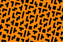 Orange tetris Stock Photo