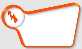 Orange text Stock Photo