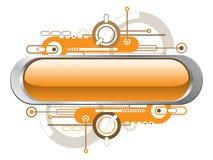 Orange Textfahne Lizenzfreie Stockbilder
