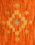 Orange textile with pattern Royalty Free Stock Image