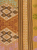 Orange textile texture strip pattern Royalty Free Stock Photos