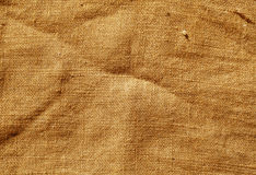 Orange textur för torkduk för färghessianssäck Royaltyfri Bild