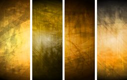 Orange textural backgrounds set Royalty Free Stock Photo