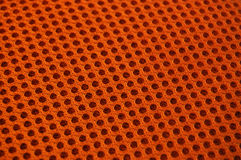 Orange Texture Background. Closeup of an orange fabric surface texture Stock Photos