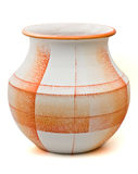 Orange textured pottery Stock Images