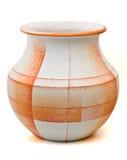 Orange textured pottery Stock Images
