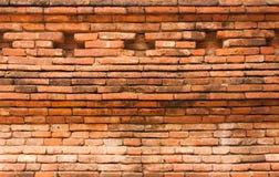 Orange texturerad tegelstenvägg Royaltyfri Bild