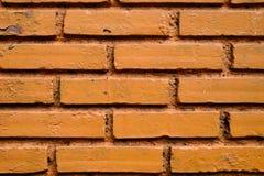 Orange texturmaterial för tegelsten Royaltyfri Bild