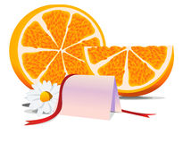 Orange thanks blank Stock Image