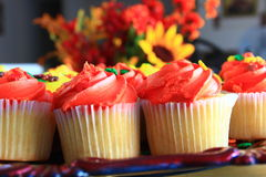 Orange Thanksgiving cupcakes Royalty Free Stock Photography