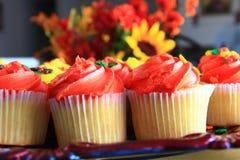 Orange Thanksgiving cupcakes Royalty Free Stock Photography