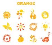 Orange Theme Royalty Free Stock Photo