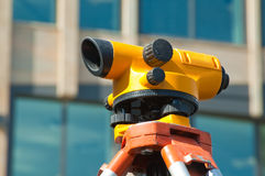 Orange theodolite Royalty Free Stock Photos