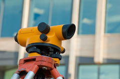 Orange theodolite Royalty Free Stock Images