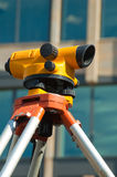Orange theodolite Stock Image