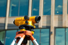 Orange theodolite Stock Photos