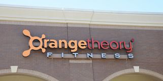 Orange Theory Fitness Gym Sign Stock Photography