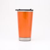 Orange thermal mug Royalty Free Stock Images