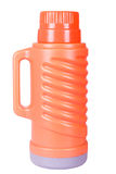 The orange thermos Stock Photos