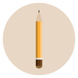 Orange thick pencil Royalty Free Stock Photography