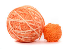 Orange threads Stock Photos